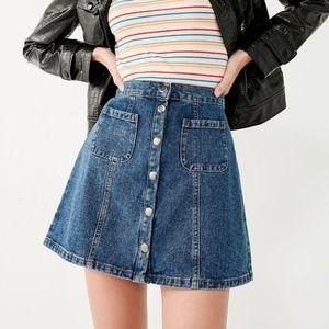 Urban Outfitters BDG Denim Button-Front Skirt